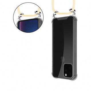 Cadorabo Handy Kette für Apple iPhone 11 PRO (XI PRO) in CREME BEIGE - Silikon Necklace Umhänge Hülle mit Silber Ringen, Kordel Band Schnur und abnehmbarem Etui - Schutzhülle - Vorschau 5