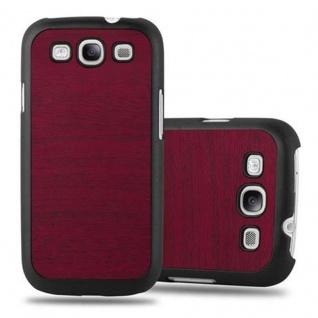 Cadorabo Hülle für Samsung Galaxy S3 / S3 NEO in WOODY ROT ? Hardcase Handyhülle aus Plastik gegen Kratzer und Stöße ? Schutzhülle Bumper Ultra Slim Back Case Hard Cover