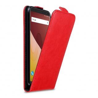 Cadorabo Hülle für WIKO VIEW PRIME in APFEL ROT Handyhülle im Flip Design mit Magnetverschluss Case Cover Schutzhülle Etui Tasche Book Klapp Style