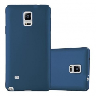 Cadorabo Hülle für Samsung Galaxy NOTE 4 in METALL BLAU - Hardcase Handyhülle aus Plastik gegen Kratzer und Stöße - Schutzhülle Bumper Ultra Slim Back Case Hard Cover
