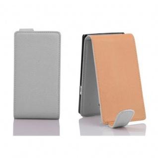 Cadorabo Hülle für Sony Xperia T in MAGNESIUM WEIß - Handyhülle im Flip Design aus strukturiertem Kunstleder - Case Cover Schutzhülle Etui Tasche Book Klapp Style - Vorschau 2