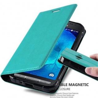 Cadorabo Hülle für Samsung Galaxy XCOVER 3 in PETROL TÜRKIS - Handyhülle mit Magnetverschluss, Standfunktion und Kartenfach - Case Cover Schutzhülle Etui Tasche Book Klapp Style