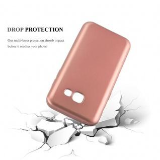 Cadorabo Hülle für Samsung Galaxy A3 2017 in METALL ROSE GOLD - Hardcase Handyhülle aus Plastik gegen Kratzer und Stöße - Schutzhülle Bumper Ultra Slim Back Case Hard Cover - Vorschau 3