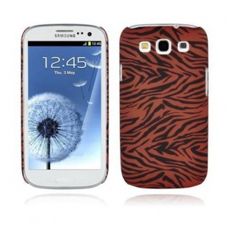 Cadorabo - Hard Cover für Samsung Galaxy S3 / S3 NEO - Case Cover Schutzhülle Bumper im Design: BROWN LION