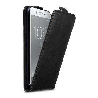 Cadorabo Hülle für Sony Xperia XZ Premium in NACHT SCHWARZ Handyhülle im Flip Design mit Magnetverschluss Case Cover Schutzhülle Etui Tasche Book Klapp Style