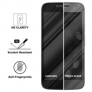Cadorabo Vollbild Panzer Folie für Motorola MOTO G4 PLAY - Schutzfolie in TRANSPARENT mit SCHWARZ - Gehärtetes (Tempered) Display-Schutzglas in 9H Härte mit 3D Touch Kompatibilität - Vorschau 3