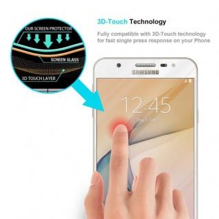 Cadorabo Vollbild Panzer Folie für Samsung Galaxy J7 PRIME / ON7 2016 - Schutzfolie in TRANSPARENT mit WEISS - Gehärtetes (Tempered) Display-Schutzglas in 9H Härte mit 3D Touch Kompatibilität - Vorschau 5
