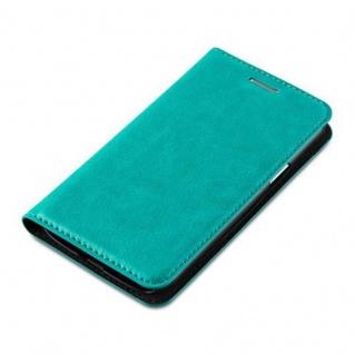 Cadorabo Hülle für Samsung Galaxy J1 2015 in PETROL TÜRKIS - Handyhülle mit Magnetverschluss, Standfunktion und Kartenfach - Case Cover Schutzhülle Etui Tasche Book Klapp Style - Vorschau 3