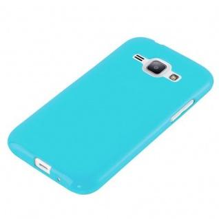Cadorabo Hülle für Samsung Galaxy J1 2015 in JELLY HELL BLAU ? Handyhülle aus flexiblem TPU Silikon ? Silikonhülle Schutzhülle Ultra Slim Soft Back Cover Case Bumper - Vorschau 2