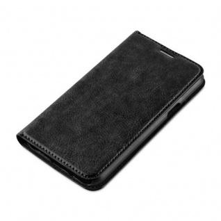 Cadorabo Hülle für Samsung Galaxy J5 2015 in NACHT SCHWARZ - Handyhülle mit Magnetverschluss, Standfunktion und Kartenfach - Case Cover Schutzhülle Etui Tasche Book Klapp Style - Vorschau 3