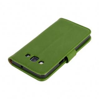 Cadorabo Hülle für Samsung Galaxy A5 2015 in GRAS GRÜN - Handyhülle mit Magnetverschluss, Standfunktion und Kartenfach - Case Cover Schutzhülle Etui Tasche Book Klapp Style - Vorschau 4