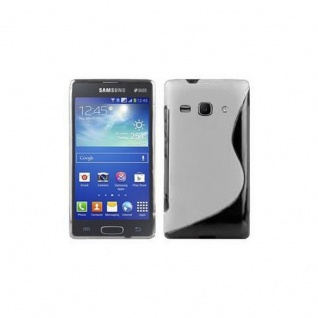 Cadorabo Hülle für Samsung Galaxy ACE 3 in HALB TRANSPARENT ? Handyhülle aus flexiblem TPU Silikon ? Silikonhülle Schutzhülle Ultra Slim Soft Back Cover Case Bumper