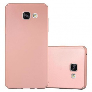 Cadorabo Hülle für Samsung Galaxy A5 2016 in METALL ROSE GOLD - Hardcase Handyhülle aus Plastik gegen Kratzer und Stöße - Schutzhülle Bumper Ultra Slim Back Case Hard Cover