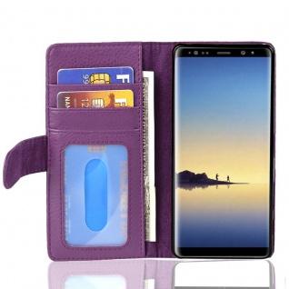 Cadorabo Hülle für Samsung Galaxy NOTE 8 in BORDEAUX LILA Handyhülle mit Magnetverschluss und 3 Kartenfächern Case Cover Schutzhülle Etui Tasche Book Klapp Style