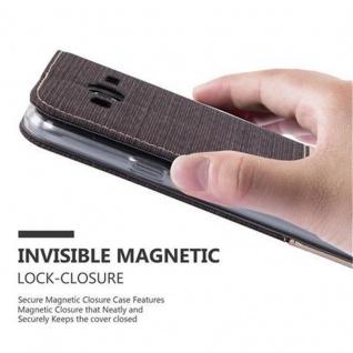 Cadorabo Hülle für Samsung Galaxy J3 2016 in ANTRAZIT GOLD - Handyhülle mit Magnetverschluss, Standfunktion und Kartenfach - Case Cover Schutzhülle Etui Tasche Book Klapp Style - Vorschau 5