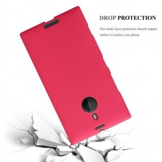 Cadorabo Hülle für Nokia Lumia 1520 in FROST ROT - Handyhülle aus flexiblem TPU Silikon - Silikonhülle Schutzhülle Ultra Slim Soft Back Cover Case Bumper - Vorschau 3