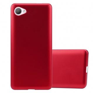 Cadorabo Hülle für HTC Desire 12 in METALLIC ROT - Handyhülle aus flexiblem TPU Silikon - Silikonhülle Schutzhülle Ultra Slim Soft Back Cover Case Bumper