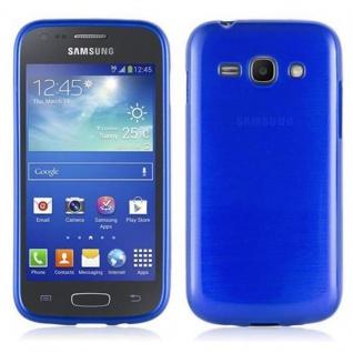 Cadorabo Hülle für Samsung Galaxy ACE 3 in BLAU - Handyhülle aus flexiblem TPU Silikon - Silikonhülle Schutzhülle Ultra Slim Soft Back Cover Case Bumper