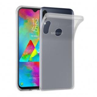 Cadorabo Hülle für Samsung Galaxy M20 in VOLL TRANSPARENT Handyhülle aus flexiblem TPU Silikon Silikonhülle Schutzhülle Ultra Slim Soft Back Cover Case Bumper