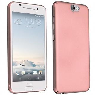 Cadorabo Hülle für HTC One A9 in METALL ROSÉ GOLD ? Hardcase Handyhülle aus Plastik gegen Kratzer und Stöße ? Schutzhülle Bumper Ultra Slim Back Case Hard Cover