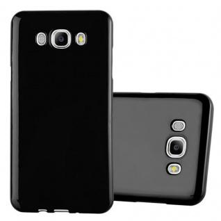 Cadorabo Hülle für Samsung Galaxy J7 2015 in JELLY SCHWARZ ? Handyhülle aus flexiblem TPU Silikon ? Silikonhülle Schutzhülle Ultra Slim Soft Back Cover Case Bumper