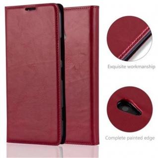 Cadorabo Hülle für Nokia Lumia 1320 in APFEL ROT - Handyhülle mit Magnetverschluss, Standfunktion und Kartenfach - Case Cover Schutzhülle Etui Tasche Book Klapp Style - Vorschau 2