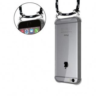 Cadorabo Handy Kette für Apple iPhone 6 PLUS / iPhone 6S PLUS in SCHWARZ SILBER - Silikon Necklace Umhänge Hülle mit Silber Ringen, Kordel Band Schnur und abnehmbarem Etui - Schutzhülle - Vorschau 5
