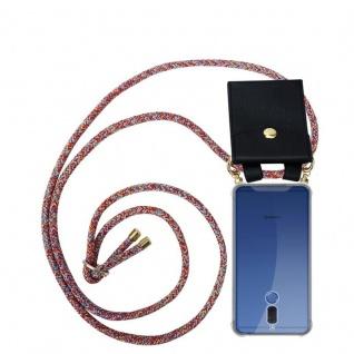 Cadorabo Handy Kette für Huawei MATE 10 LITE in COLORFUL PARROT - Silikon Necklace Umhänge Hülle mit Gold Ringen, Kordel Band Schnur und abnehmbarem Etui ? Schutzhülle