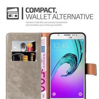 Cadorabo Hülle für Samsung Galaxy J7 2016 in CAPPUCCINO BRAUN ? Handyhülle mit Magnetverschluss, Standfunktion und Kartenfach ? Case Cover Schutzhülle Etui Tasche Book Klapp Style - Vorschau 3