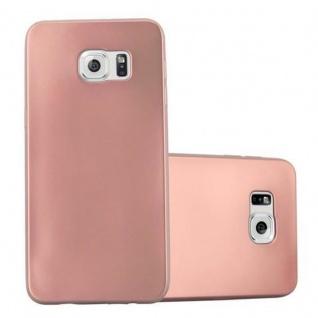Cadorabo Hülle für Samsung Galaxy S6 EDGE PLUS - Hülle in METALLIC ROSE GOLD ? Handyhülle aus TPU Silikon im Matt Metallic Design - Ultra Slim Soft Backcover Case Bumper
