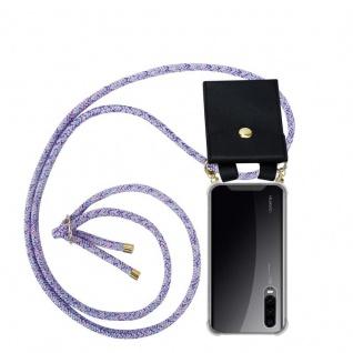 Cadorabo Handy Kette für Huawei P30 in UNICORN - Silikon Necklace Umhänge Hülle mit Gold Ringen, Kordel Band Schnur und abnehmbarem Etui ? Schutzhülle