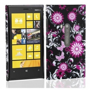 Cadorabo - Hard Cover für Nokia Lumia 800 - Case Cover Schutzhülle Bumper im Design: LOVELY BUTTERFLY