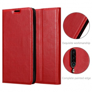 Cadorabo Hülle für MEIZU 16Xs in APFEL ROT - Handyhülle mit Magnetverschluss, Standfunktion und Kartenfach - Case Cover Schutzhülle Etui Tasche Book Klapp Style - Vorschau 4
