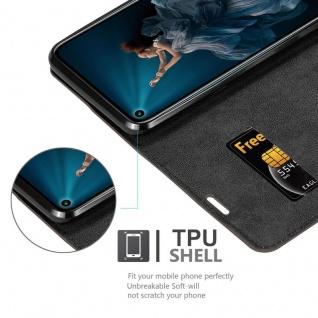 Cadorabo Hülle für Honor 20 PRO in KAFFEE BRAUN - Handyhülle mit Magnetverschluss, Standfunktion und Kartenfach - Case Cover Schutzhülle Etui Tasche Book Klapp Style - Vorschau 4