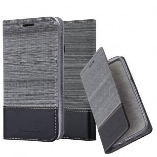 Cadorabo Hülle für Samsung Galaxy A40 in GRAU SCHWARZ - Handyhülle mit Magnetverschluss, Standfunktion und Kartenfach - Case Cover Schutzhülle Etui Tasche Book Klapp Style