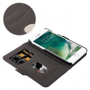 Cadorabo Hülle für Apple iPhone 7 / iPhone 7S / iPhone 8 - Hülle in KOHLEN SCHWARZ - Handyhülle im 2-in-1 Design mit Standfunktion und Kartenfach - Hard Case Book Etui Schutzhülle Tasche Cover - Vorschau 5