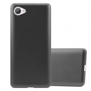 Cadorabo Hülle für HTC Desire 12 in METALLIC GRAU - Handyhülle aus flexiblem TPU Silikon - Silikonhülle Schutzhülle Ultra Slim Soft Back Cover Case Bumper