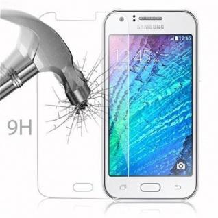 Cadorabo Panzer Folie für Samsung Galaxy J1 - Schutzfolie in KRISTALL KLAR - Gehärtetes (Tempered) Display-Schutzglas in 9H Härte mit 3D Touch Kompatibilität - Vorschau 3