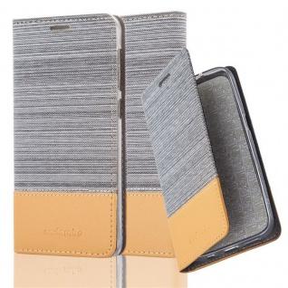 Cadorabo Hülle für HTC Desire 10 LIFESTYLE / Desire 825 in HELL GRAU BRAUN - Handyhülle mit Magnetverschluss, Standfunktion und Kartenfach - Case Cover Schutzhülle Etui Tasche Book Klapp Style