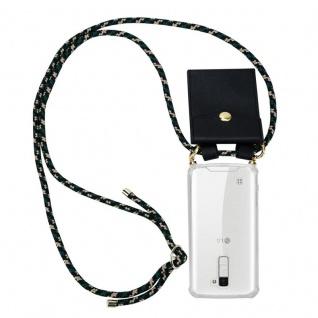 Cadorabo Handy Kette für LG K10 2016 in CAMOUFLAGE ? Silikon Necklace Umhänge Hülle mit Gold Ringen, Kordel Band Schnur und abnehmbarem Etui ? Schutzhülle