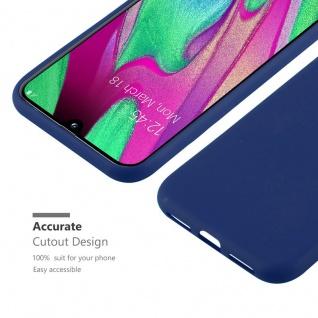 Cadorabo Hülle für Samsung Galaxy A40 in CANDY DUNKEL BLAU - Handyhülle aus flexiblem TPU Silikon - Silikonhülle Schutzhülle Ultra Slim Soft Back Cover Case Bumper - Vorschau 4