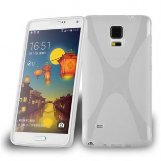 Cadorabo Hülle für Samsung Galaxy NOTE 4 in HALB TRANSPARENT ? Handyhülle aus flexiblem TPU Silikon ? Silikonhülle Schutzhülle Ultra Slim Soft Back Cover Case Bumper
