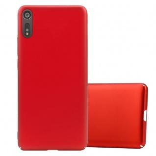 Cadorabo Hülle für Sony Xperia XZ / XZs in METALL ROT Hardcase Handyhülle aus Plastik gegen Kratzer und Stöße Schutzhülle Bumper Ultra Slim Back Case Hard Cover