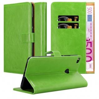 Cadorabo Hülle für Xiaomi Mi Max 2 in GRAS GRÜN ? Handyhülle mit Magnetverschluss, Standfunktion und Kartenfach ? Case Cover Schutzhülle Etui Tasche Book Klapp Style