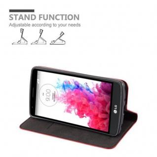 Cadorabo Hülle für LG G3 STYLUS in APFEL ROT Handyhülle mit Magnetverschluss, Standfunktion und Kartenfach Case Cover Schutzhülle Etui Tasche Book Klapp Style - Vorschau 3