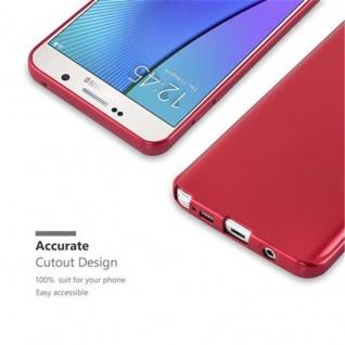 Cadorabo Hülle für Samsung Galaxy NOTE 5 in METALLIC ROT - Handyhülle aus flexiblem TPU Silikon - Silikonhülle Schutzhülle Ultra Slim Soft Back Cover Case Bumper - Vorschau 2