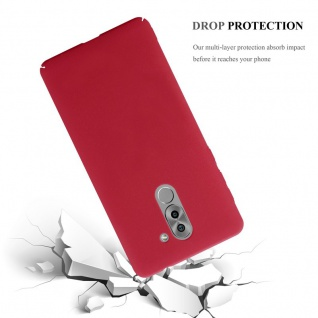Cadorabo Hülle für Honor 6X in FROSTY ROT - Hardcase Handyhülle aus Plastik gegen Kratzer und Stöße - Schutzhülle Bumper Ultra Slim Back Case Hard Cover - Vorschau 3