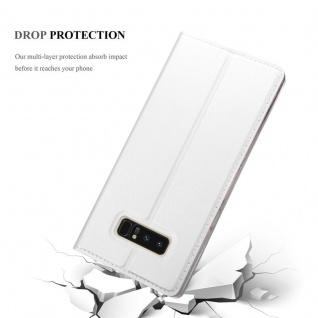 Cadorabo Hülle für Samsung Galaxy NOTE 8 in CLASSY SILBER - Handyhülle mit Magnetverschluss, Standfunktion und Kartenfach - Case Cover Schutzhülle Etui Tasche Book Klapp Style - Vorschau 5