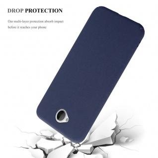 Cadorabo Hülle für Nokia Lumia 650 in FROSTY BLAU - Hardcase Handyhülle aus Plastik gegen Kratzer und Stöße - Schutzhülle Bumper Ultra Slim Back Case Hard Cover - Vorschau 5