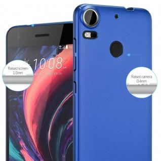 Cadorabo Hülle für HTC Desire 10 PRO in METALL BLAU ? Hardcase Handyhülle aus Plastik gegen Kratzer und Stöße ? Schutzhülle Bumper Ultra Slim Back Case Hard Cover - Vorschau 4